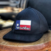 LIMITED TEXAS FLAG PATCH (Black) FLEX FIT HAT - We Out Here