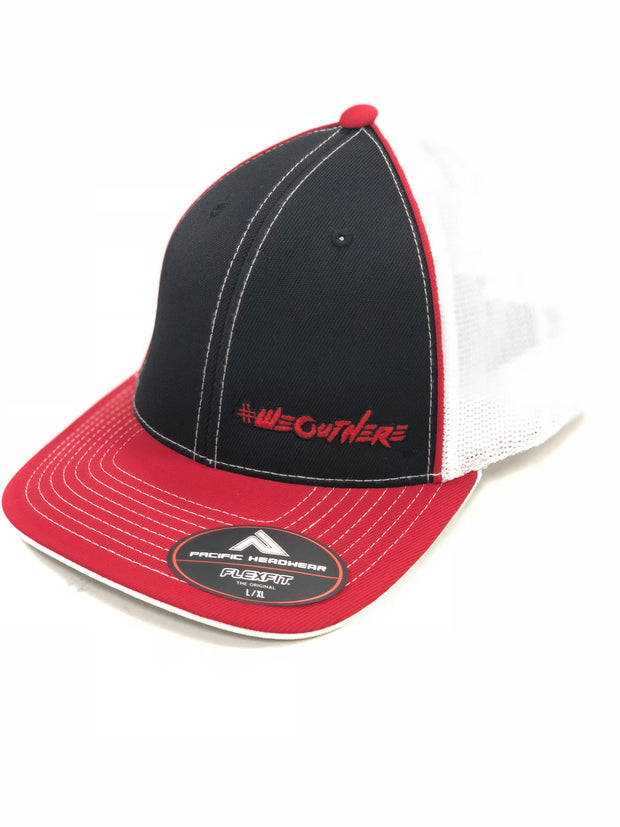 #WeOutHere™ (Red/Black/Red) FLEX FIT HAT