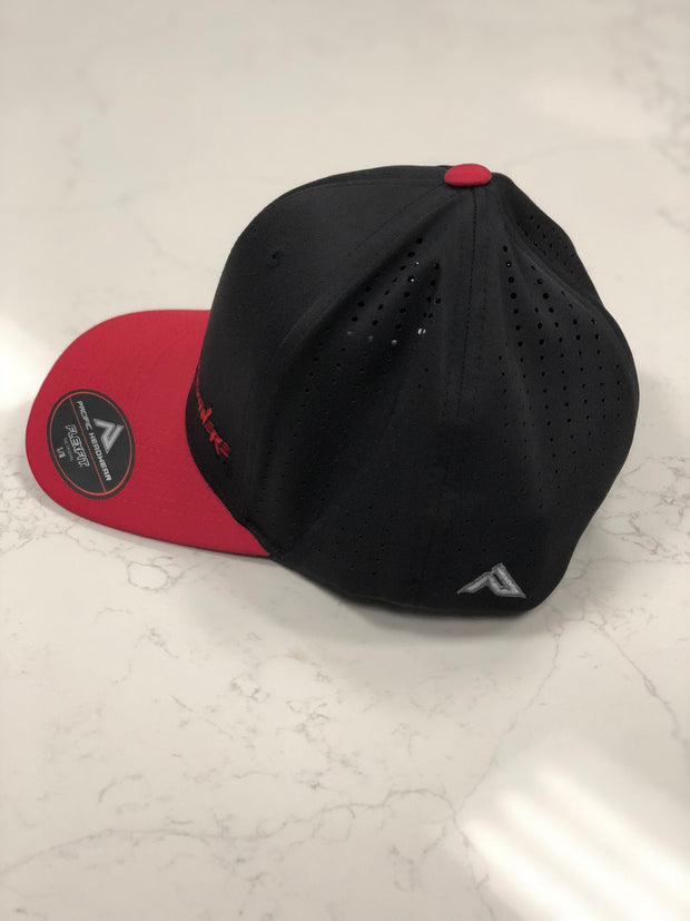 #WeOutHere™ (Black/Red) PERFORMANCE FLEX FIT HAT