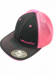 #WeOutHere™ (Black/Pink) FLEX FIT HAT
