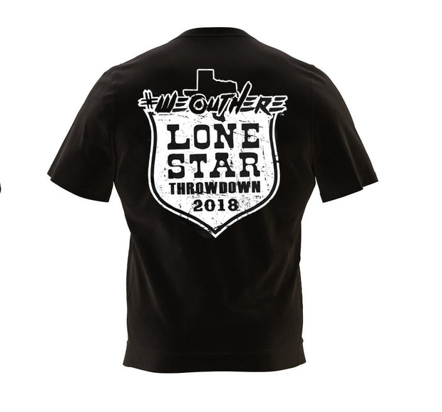 #WeOutHere™ LONESTAR THROWDOWN (Black) EVENT T-SHIRT
