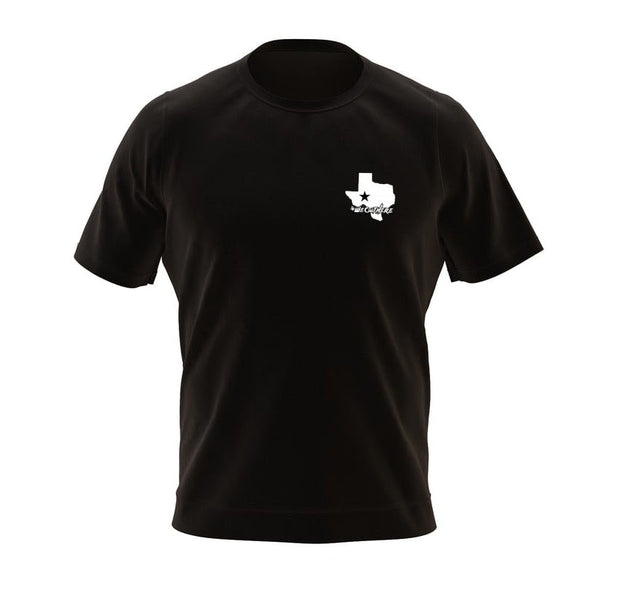 #WeOutHere™ TEXAS PLATE (Black) T-SHIRT