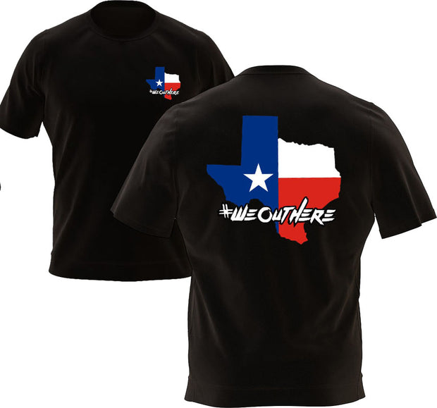 #WeOutHere™ TEXAS STATE (Black) T-SHIRT