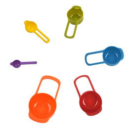 6 Pc Nestling Measuring Cup and Spoon Set