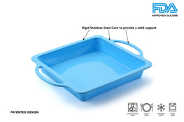 TRENDS home 8 Inch Silicone Square Cake Pan
