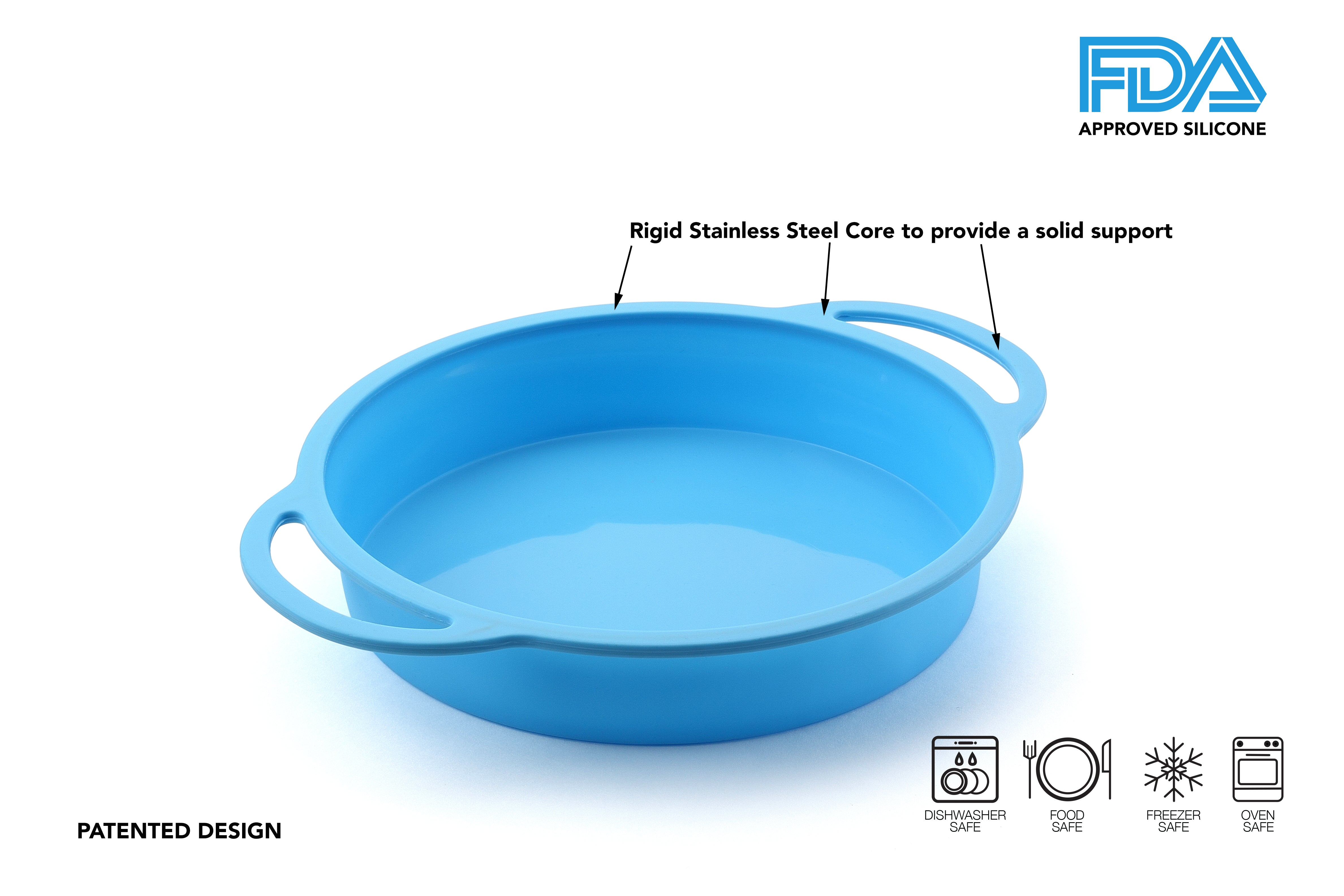TRENDS home 8 Inch Silicone Round Cake Pan