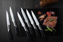 TRENDS Chef Gift Boxed 6 Pce Designer Steak Knives