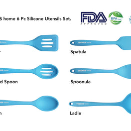 6 Pc Silicone Utensil Set