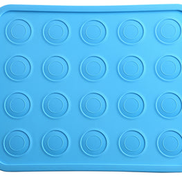 Macaron Silicone Mat, macaron baking sheet/pan for Macaron, Pastry or Cookie. Patented Stainless Steel Frame for Durability & Strength with flexibility of silicone