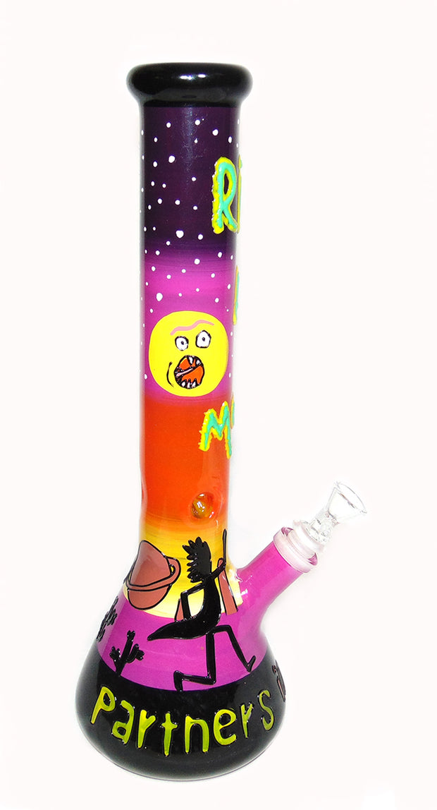 "Rick and Morty Partners in Crime 15"" Tobacco Water Pipe"