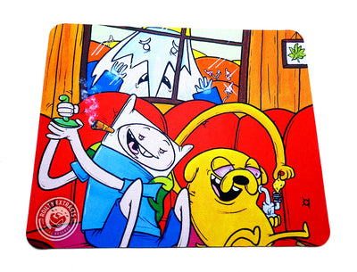 Adventure Time Couch Session Glass Protection Mat