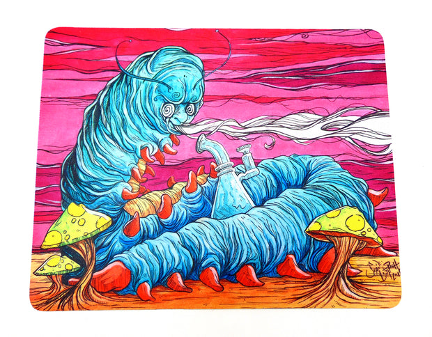 Alice in Wonderland Caterpillar Glass Protection Mat