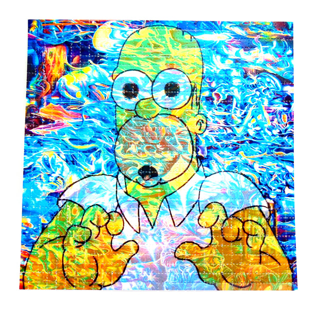 "Blotter Art ""Homer in Trippy Land"""