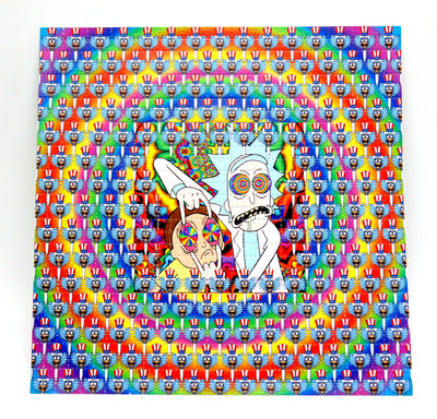 "Blotter Art ""Rick and Morty"""