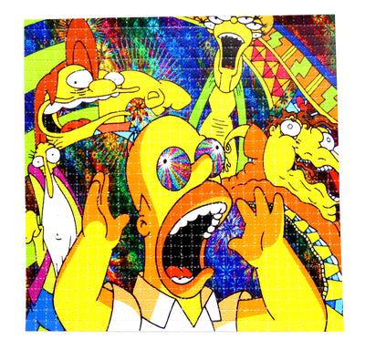"Blotter Art ""Simpsons Gang"""