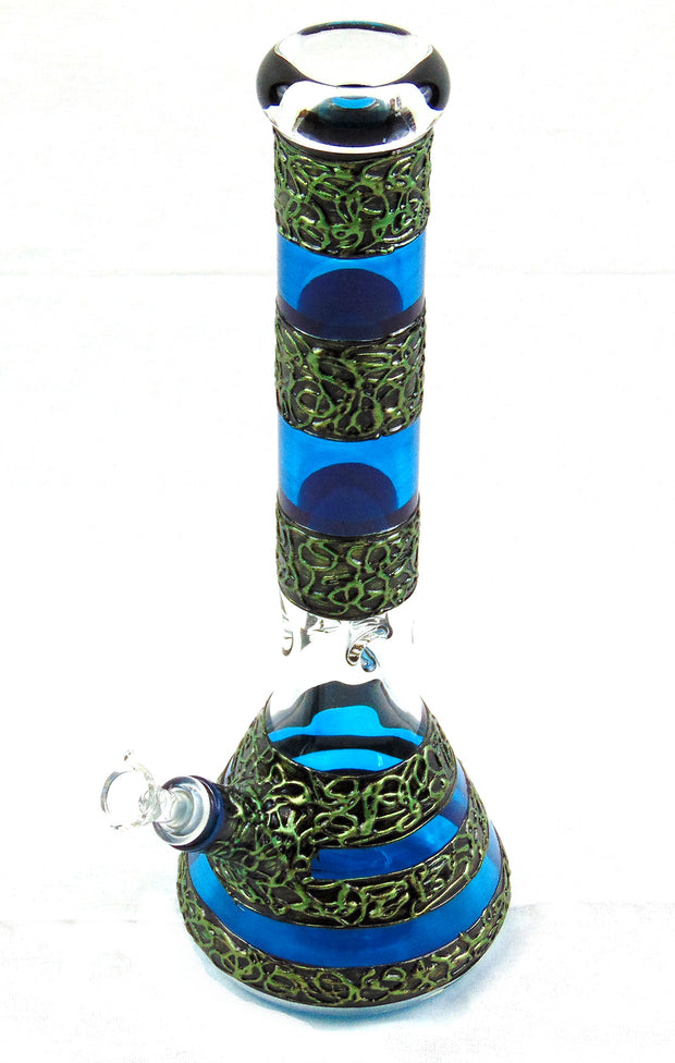 "Celtic Wrapped 15"" Beaker Tobacco Water Pipe"