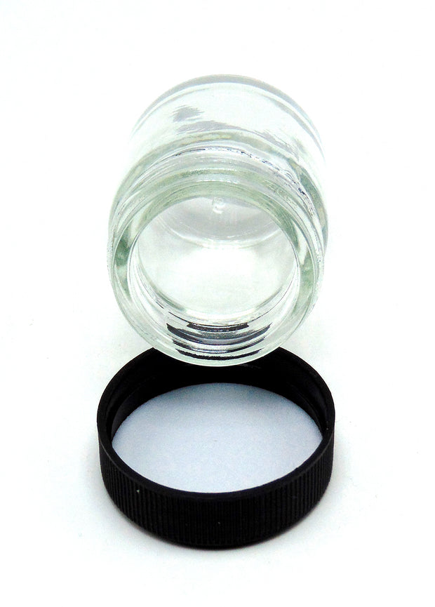 1oz Clear Glass Jar