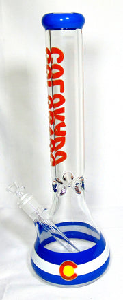 "15"" Colorado Glow Beaker Tobacco Water Pipe"