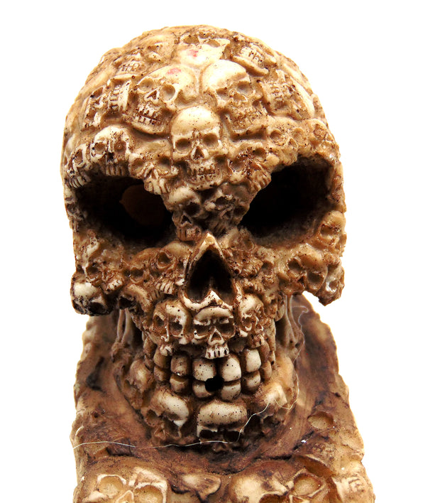 Covered Skull Incense Holder