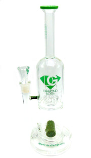 Diamond Glass Double Perc Tobacco Water Pipe