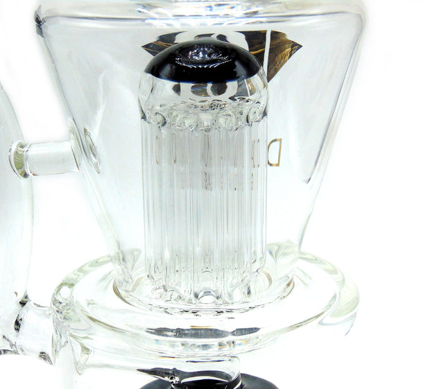 Diamond Glass 10 Arm Tree Perc W/ Shower Head Tobacco Water Pipe
