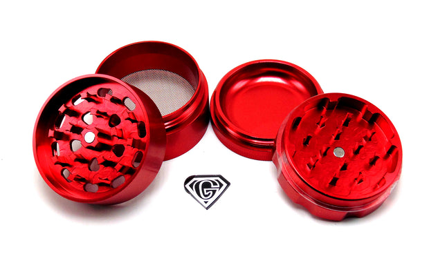 Red Dr. Greens 4 Piece Grinder