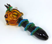 Empire Glassworks Wrapped Dragon Pipe