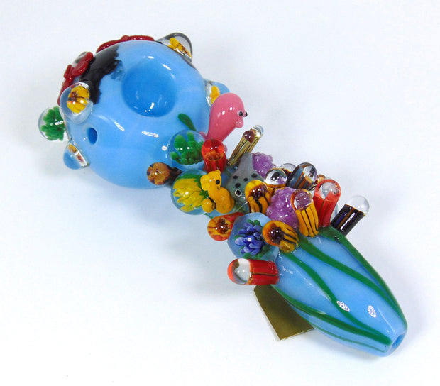 "Empire Glassworks ""Ocean Life"" Glass Pipe"