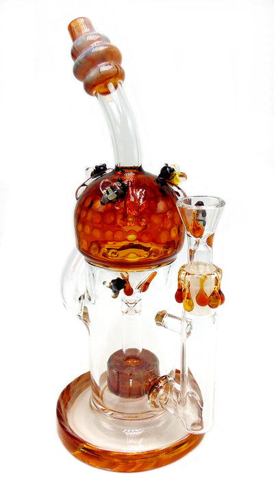 Honey Bee Themed Recycler Tobacco Water Pipe
