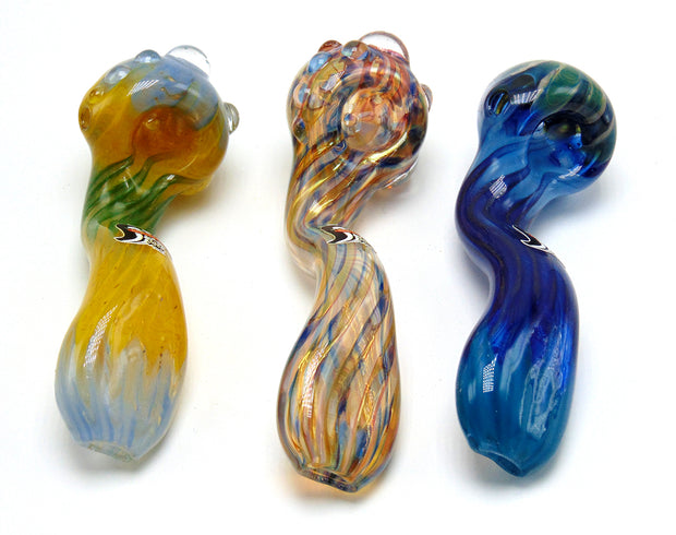 Hot Glass Large Sherlock Tobacco Pipe.