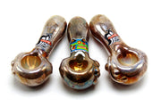 Hot Glass Mirrored Tobacco Pipe