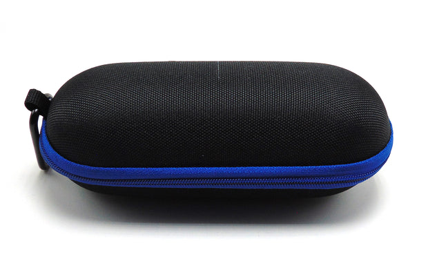 Large Hard Shell Black and Blue Padded Pipe Case