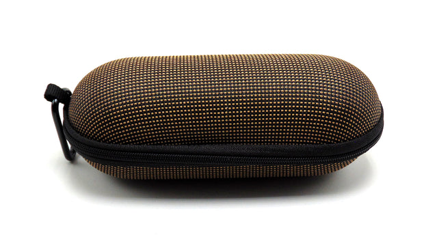 Large Hard Shell Black and Brown Padded Pipe Case