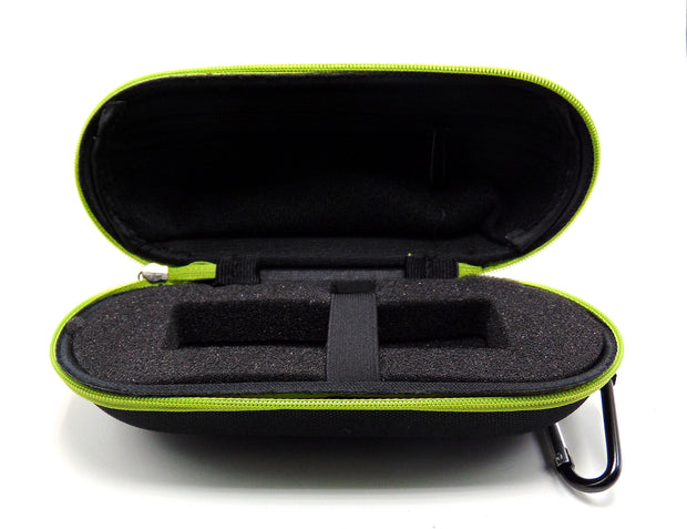 Large Hard Shell Black and Green Padded Pipe Case