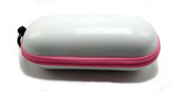 Large Hard Shell White Padded Pipe Case