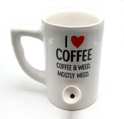 """I Heart Coffee"" 8oz Ceramic Mug Pipe"
