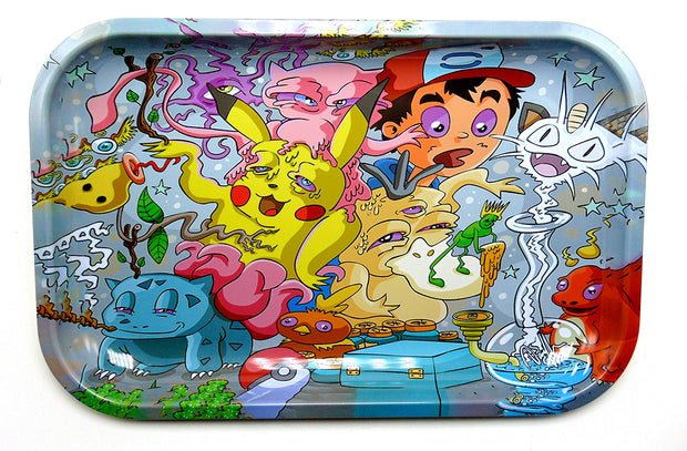 Trippy Pokemon Magnetic Top Rolling Tray