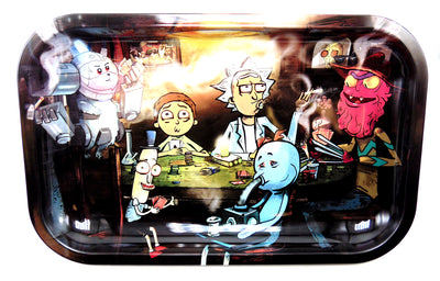 Rick and Morty Poker Table Magnetic Top Rolling Tray
