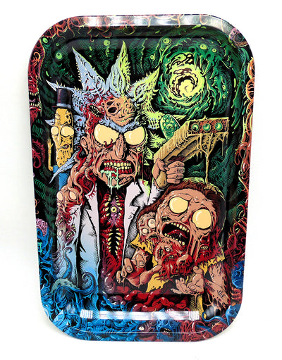 Rick and Morty Zombies Magnetic Top Rolling Tray
