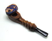 Sculpted Mill Wooden Pipe W/ Lid