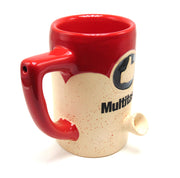 """Multitasker"" 8oz Ceramic Mug Pipe"