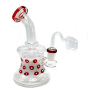 Red and White Polka Dotted Oil Rig