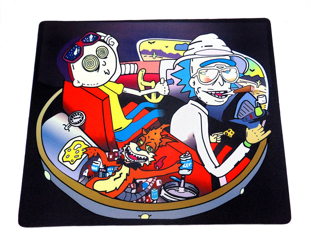 Rick and Morty Fear and Loathing Large Glass Protection Mat