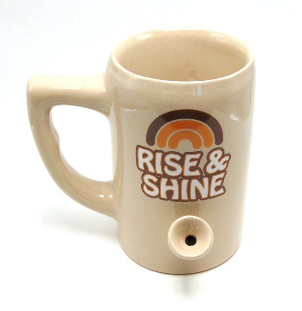 """Rise and Shine"" 8oz Ceramic Mug Pipe"