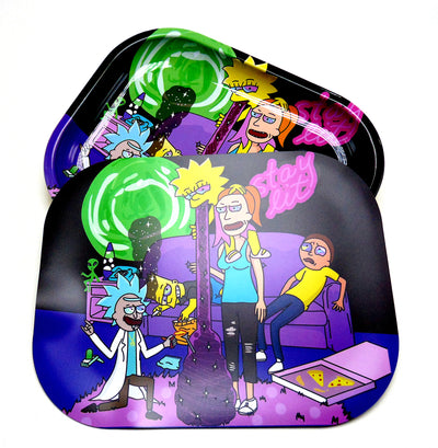 Rick and Morty, Simpsons, rolling tray