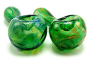 Green Celtic Design Raked and Fumed Spoon