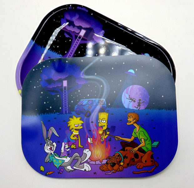 simpsons, scooby, and bugs rolling tray