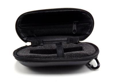 Small Hard Shell Black Leather Padded Pipe Case