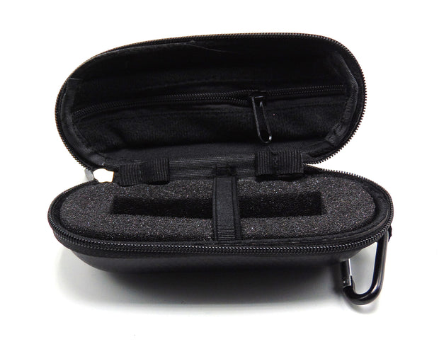 Small Hard Shell Black Checkered Leather Padded Pipe Case