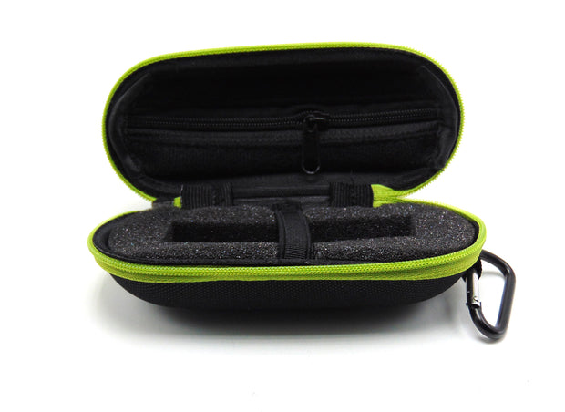 Small Hard Shell Green Padded Pipe Case
